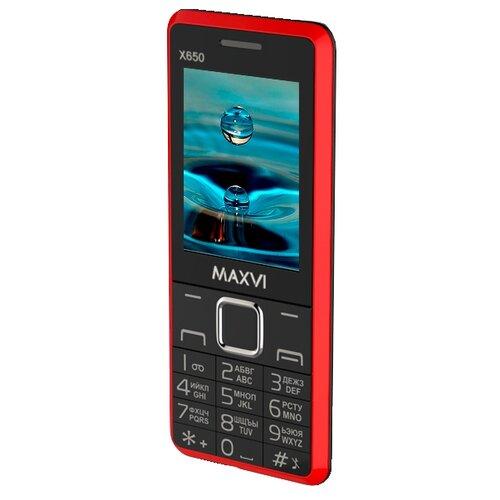 Фото - Телефон MAXVI X650 красный телефон maxvi x650 красный