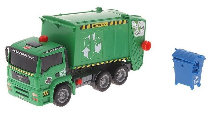 Игрушка Dickie Toys Мусоровоз с контейнером AirPump 3805000
