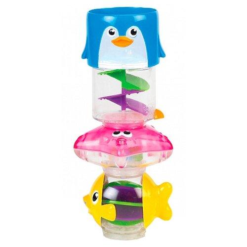 Купить Игрушка для ванной Munchkin Пирамидка 3 в 1 (11412) желтый/голубой/розовый, Игрушки для ванной