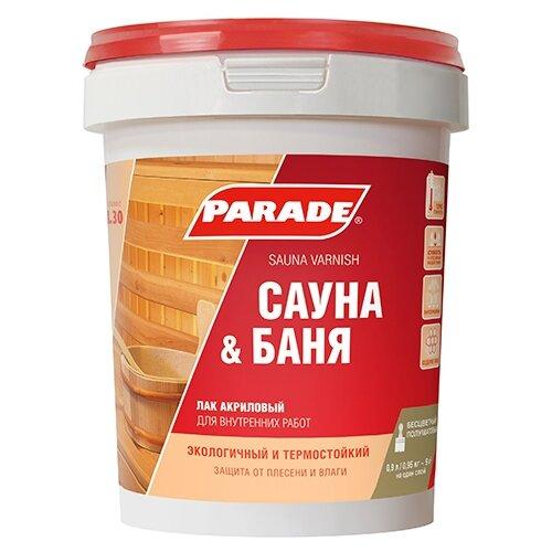 Лак Parade L30 Сауна & Баня полиакриловый бесцветный 0.9 л adis adis 3d l30