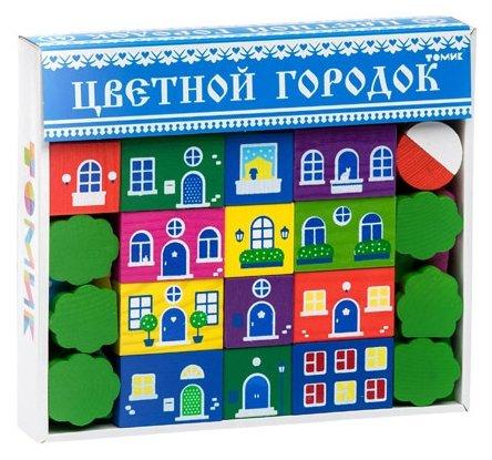 Кубики Томик Цветной городок большой 8688-8
