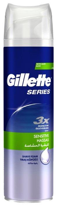 Пена для бритья Series Sensitive Skin для чувствительной кожи Gillette