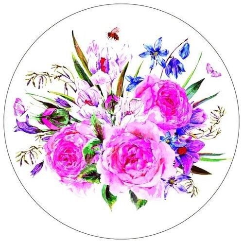 Купить Цветной Вышивка крестом Букет с пионами 28 х 28 см (VE15), Наборы для вышивания
