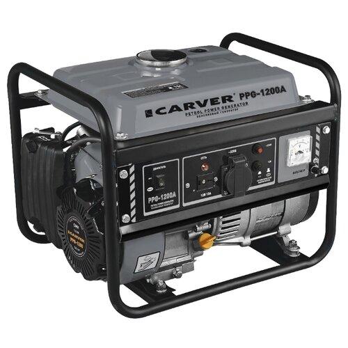 Бензиновый генератор Carver PPG-1200A (900 Вт)