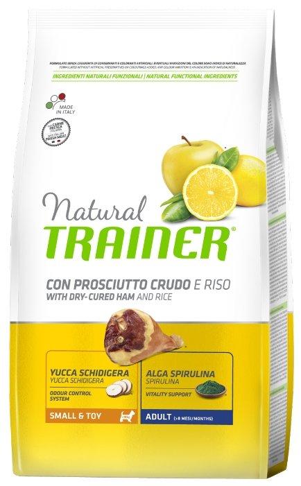 Корм для собак TRAINER Natural Adult Mini Dry-Cured Ham and rice dry