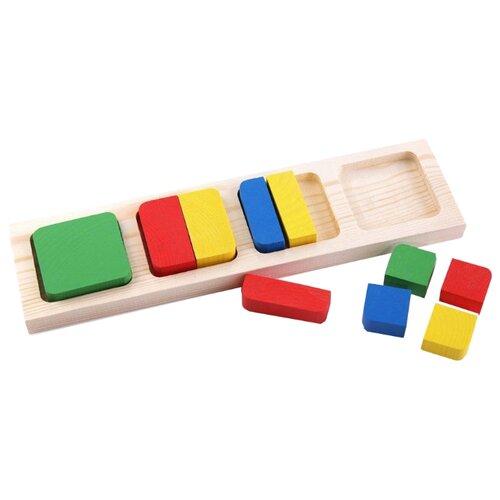 Рамка-вкладыш Томик Геометрия Квадрат (332), 10 дет. рамка вкладыш woodland 082101 монтессори геометрия 1