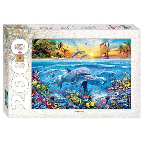 Купить Пазл Step puzzle Art Collection Дельфины (84032), 2000 дет., Пазлы