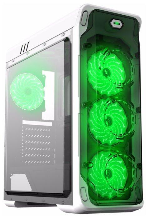 Компьютерный корпус GameMax StarLight White/green — купить по выгодной цене на Яндекс.Маркете