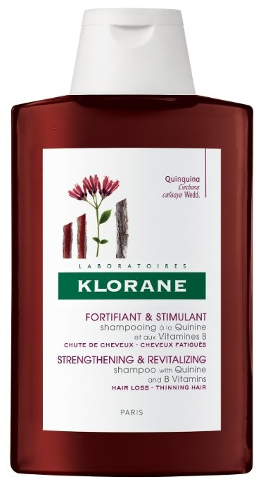 Klorane шампунь Strengthening&Revitalizing with quinine and B vitamins