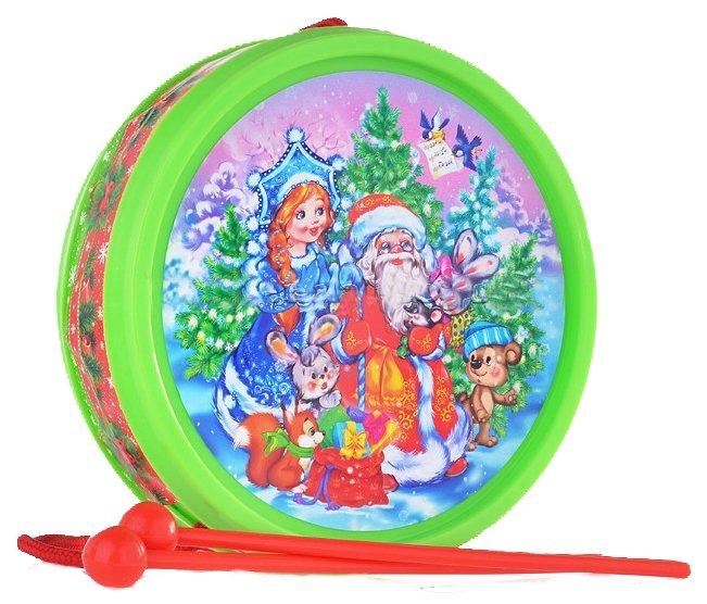 Рыжий кот барабан Дед Мороз и Снегурочка И-5464