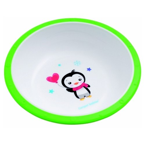 Купить Тарелка Canpol Babies Little cow (4/416) пингвиненок зеленая, Посуда