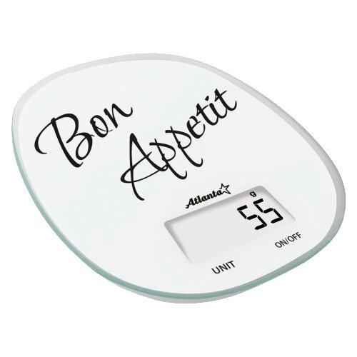 Кухонные весы Atlanta ATH-6209 белый/черный