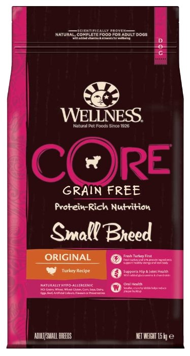 Корм для собак Wellness Dog CORE Small Breed Original