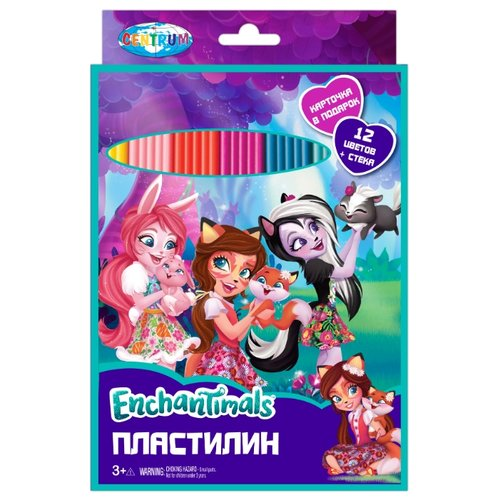 Пластилин CENTRUM Enchantimals 12 цветов (88617) centrum пластилин centrum disney тролли 12 цветов