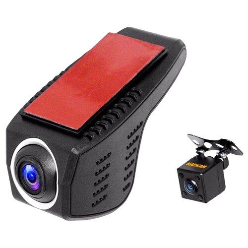 Видеорегистратор CARCAM U4-FullHD, 2 камеры черный