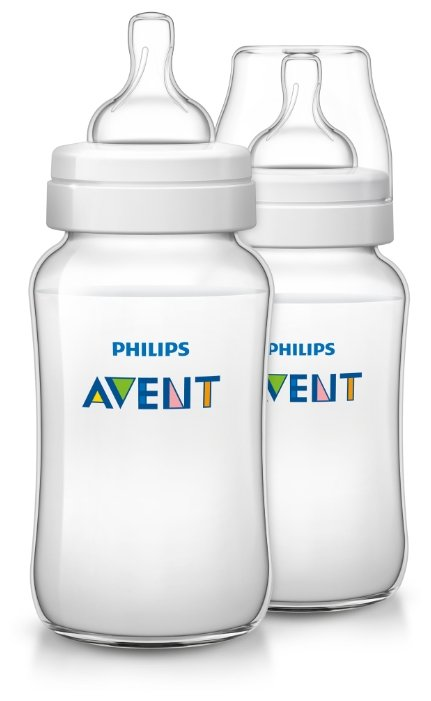 Philips AVENT Бутылочки полипропиленовые Classic+ SCF566/27 330 мл, 2 шт. с 3 мес.