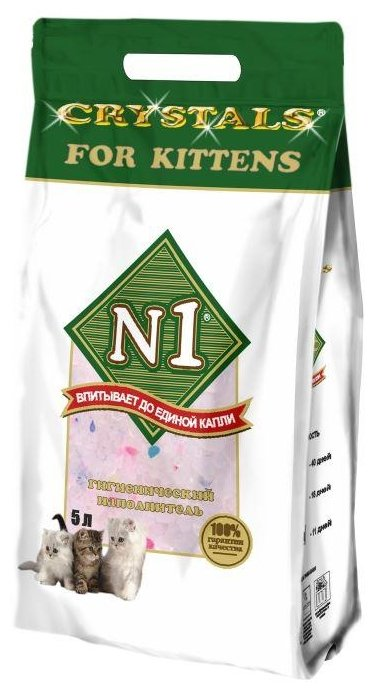 Впитывающий наполнитель N1 Crystals For Kittens 5 л