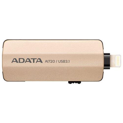 Флешка ADATA AI720 64GB золотистый флешка usb 64gb a data uv310 usb3 0 auv310 64g rgd золотистый