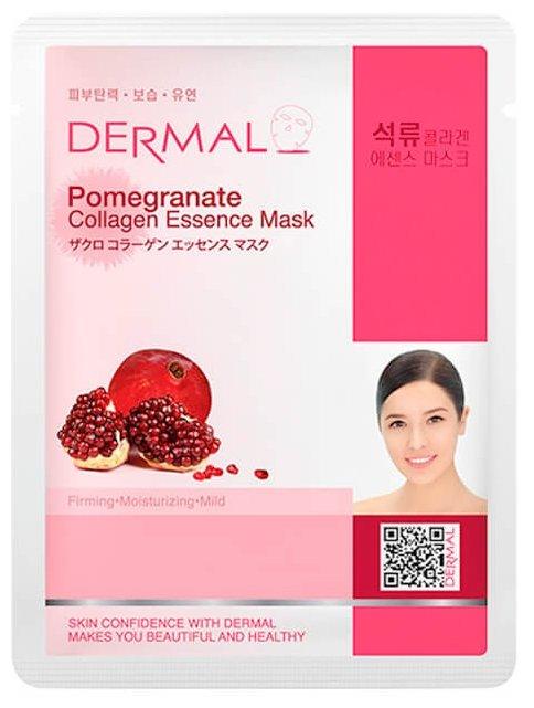 DERMAL тканевая маска с коллагеном и экстрактом граната