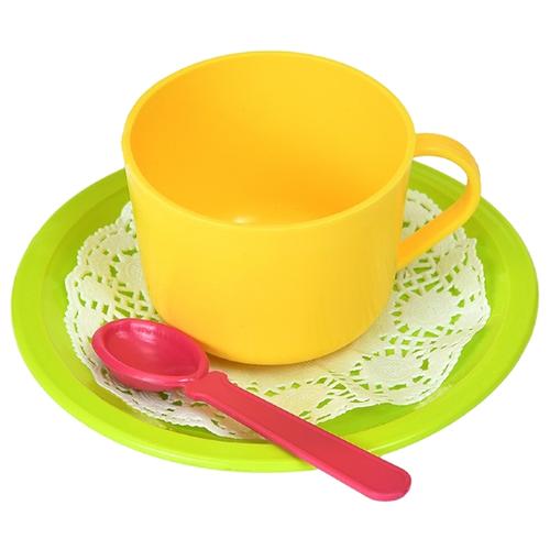 Набор посуды Росигрушка Цитрус 9411 лимонный/салатовый/малиновый росигрушка набор игрушечной посуды первый блин