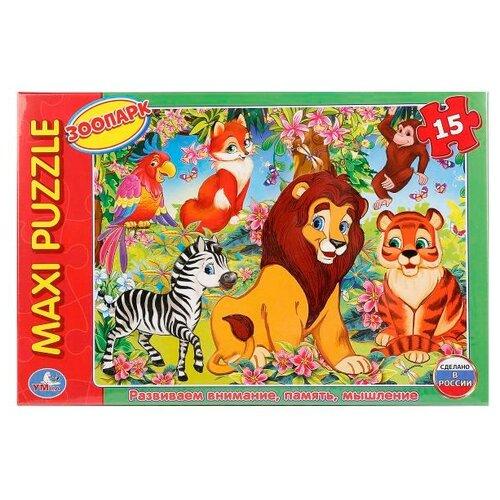 Пазл Умка Maxi Зоопарк (4690590123935), 15 дет. пазл 40 элементов умка времена года