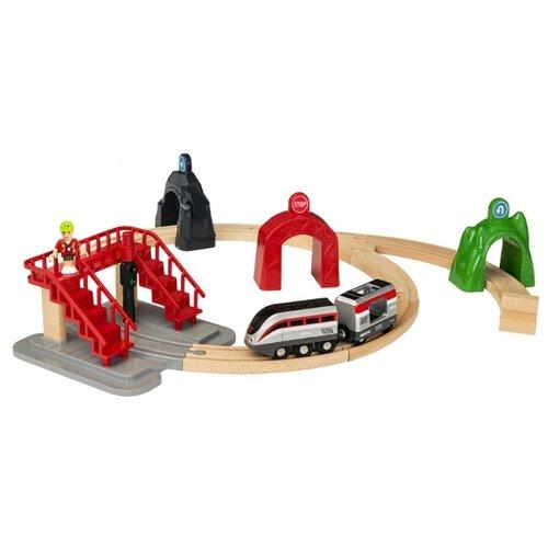 Купить Brio Стартовый набор с поездом и управляющими тоннелями, серия Smart Tech 33873, Наборы, локомотивы, вагоны