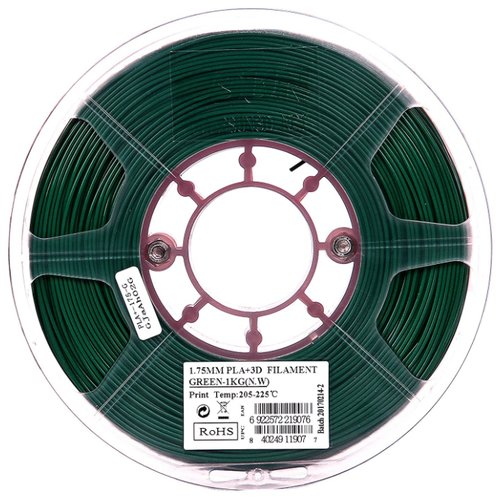 PLA+ пруток ESUN 1.75 мм зеленый 1 кг