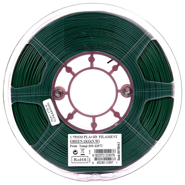 PLA+ пруток ESUN 1.75 мм зеленый 1 кг фото 1