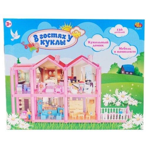 Купить ABtoys кукольный домик В гостях у куклы PT-00771, Кукольные домики
