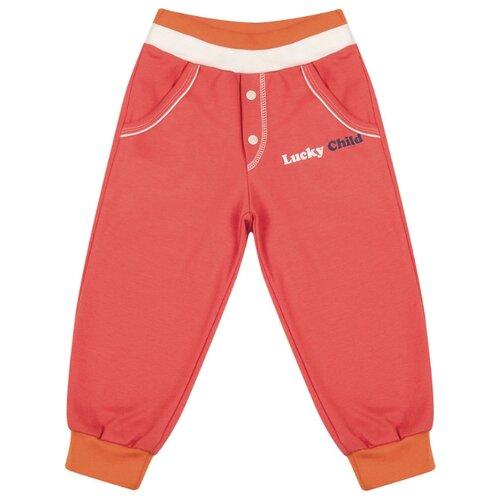 Брюки lucky child размер 20, красныйБрюки и шорты<br>