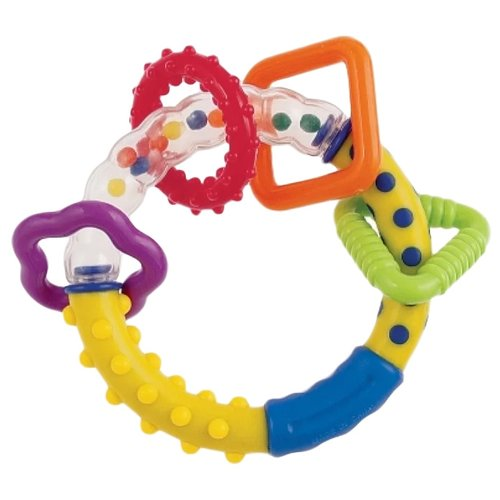 Прорезыватель-погремушка Canpol Babies Разноцветные колечки 2/450 желтый/синийПогремушки и прорезыватели<br>