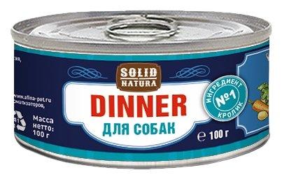 Корм для собак Solid Natura Dinner для собак - Кролик