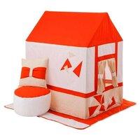 """Домик-палатка с пуфиком Paremo Текстильный домик-палатка с пуфиком для девочек и мальчиков """"Замок Сомерсет"""""""