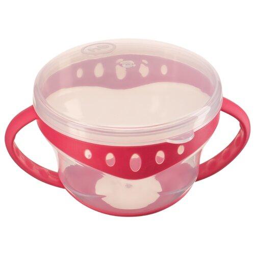 Купить Контейнер Happy Baby для снеков с двумя крышками (15021) red, Посуда