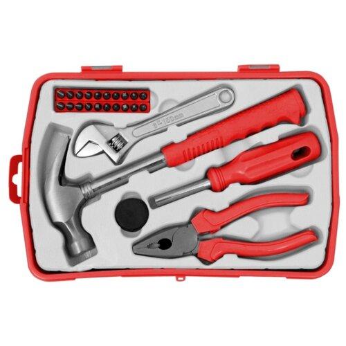 Набор инструментов Vira (25 предм.) 305088 красный/черный набор инструментов для электромонтажа vira 1000v 397033 10 шт