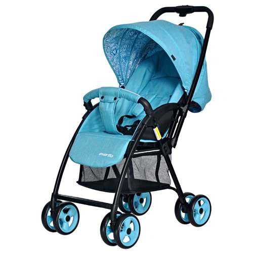 Купить со скидкой Прогулочная коляска everflo E-501 Letter aqua