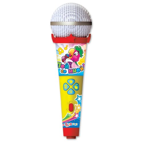 Купить Азбукварик микрофон Пой со мной! Танцевальные хиты желтый/синий/красный, Детские музыкальные инструменты
