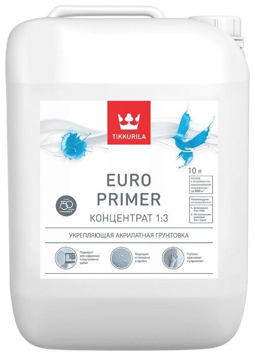 Грунтовка Tikkurila Euro Primer концентрат 1:3 (10 л)