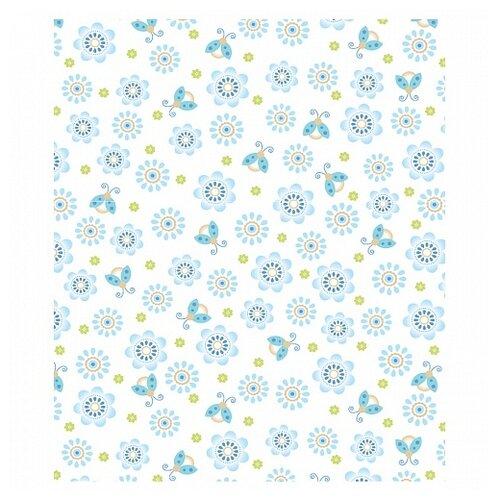 Плед Baby Nice Цветы US351284 100х140 см голубой плед baby elite ilona мишка голубой 120x90 см