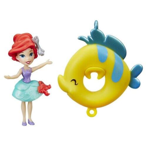 Кукла Hasbro Disney Princess Маленькое королевство Ариэль с кругом, 8 см, B8939 игрушка hasbro кукла princess disney модная ариэль e83975x0