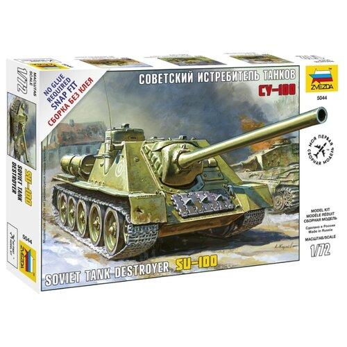 Сборная модель ZVEZDA Советский истребитель танков СУ-100 (5044) 1:72