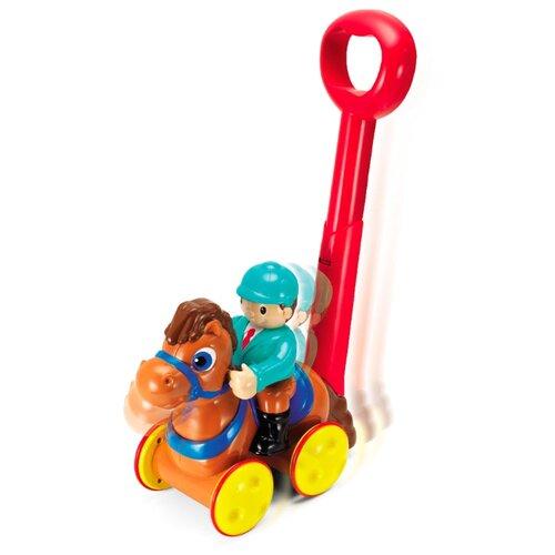 Каталка-игрушка Keenway Жокей на лошадке (32653) со звуковыми эффектами коричневый keenway keenway набор инструментов защитные очки электропила молоток инструменты