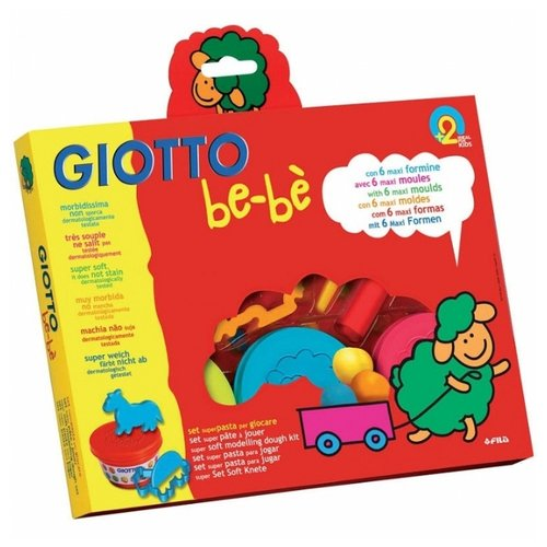 Масса для лепки GIOTTO be-be 3 цвета по 100г (462900) giotto набор для моделирования giotto be be my chef