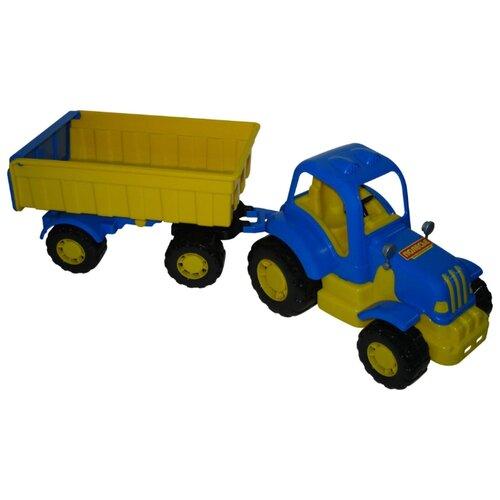 Купить Трактор Полесье Силач с прицепом №1 (44952) 59 см, Машинки и техника