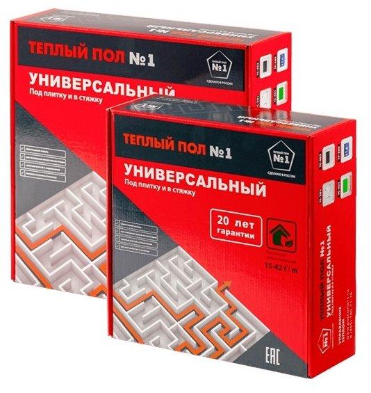 Греющий кабель Теплый пол №1 СТСП-10.6-150 14Вт/м2 1.4м2 150Вт