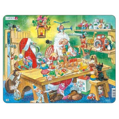 Купить Рамка-вкладыш Larsen Мастерская Санта Клауса (EA2), 140 дет., Пазлы