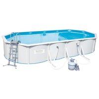 Стальной овальный бассейн Hydrium Oval Pool Set 740х360х120 м, с песч. Фил.-насос 56787л/ч Bestway 56604