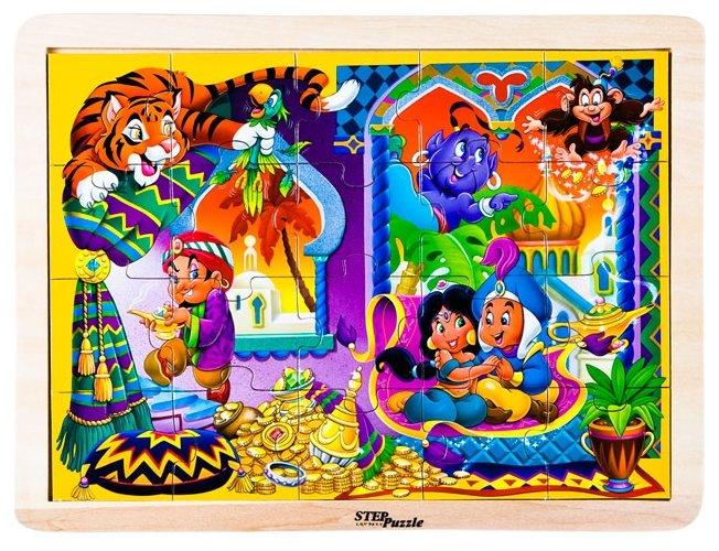 Рамка-вкладыш Step puzzle Любимые сказки Аладдин (89715), 20 дет.
