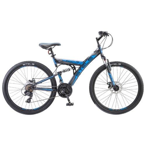 Горный (MTB) велосипед STELS Focus MD 26 21-sp V010 (2018) черный/синий 18 (требует финальной сборки) велосипед stels focus v 18 sp 2017