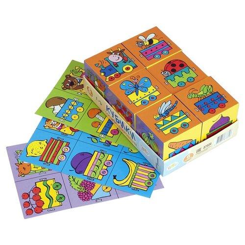 Купить Кубики-пазлы Step puzzle Baby step Собираем паровозик 87334, Детские кубики